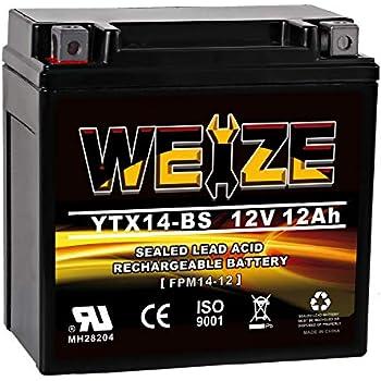 Yuasa Fresh Pack AGM Lead-Acid 12V 12Ah Battery 144Wh 200 CCA