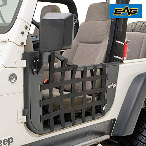 - EAG Matrix Steel Tubular Door with Side View Mirror for 97-06 Jeep Wrangler TJ
