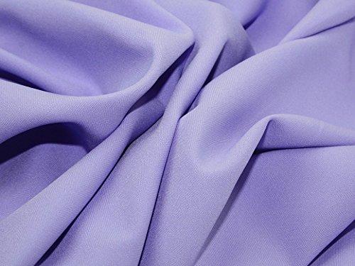 Minerva Crafts Polyester Bi Stretch Suiting Dress Fabric Lilac - per - Fabric Bi Stretch