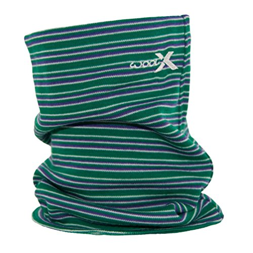 Woolx Unisex Merino Wool Neck Gaiter To Keep Neck & Face Warm , Emerald/Stripe, One Size ()