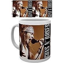Set: Guns N' Roses, Axel Photo Coffee Mug (4x3 inches) And 1x 1art1 Surprise Sticker