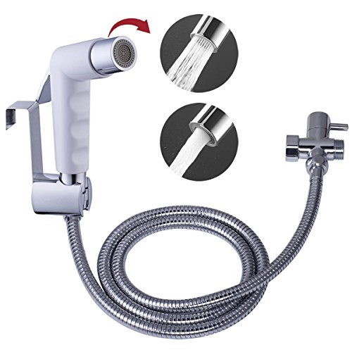 Hibbent Dual Sprayer 2 Function Hand Held Bidet - Bubbling Water and (Bidet Faucet Set)