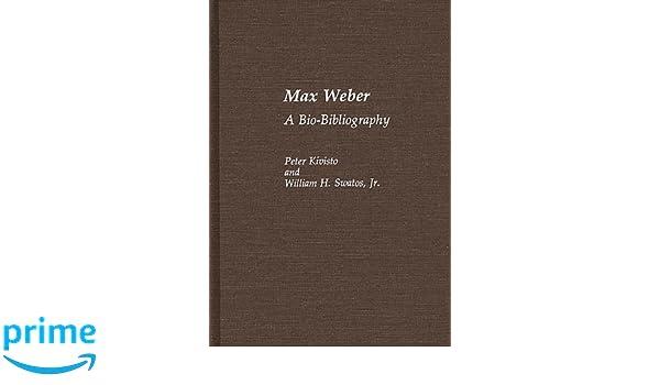 max weber bio