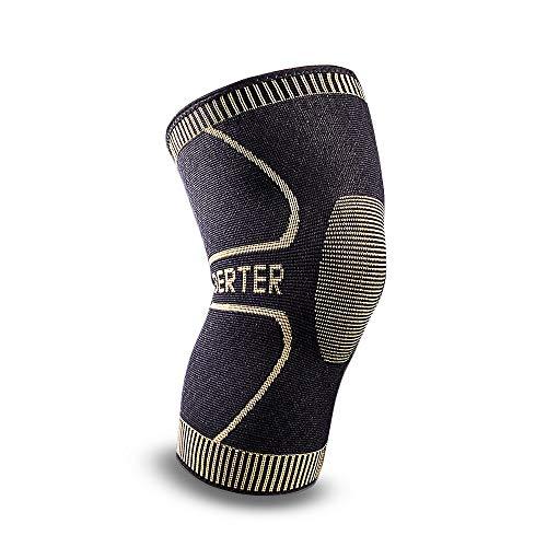 BERTER 슬서포터 스포츠 양무릎 용보온 좌우 겸용 관절 인대 근육 보호 손상 회복 의료용 환기성 신축성 4사이즈 남녀 좌우 겸용 런닝 농구 축구 등산 아웃도어 운동에 적용 상처 방지 S/M/L/XL 코드