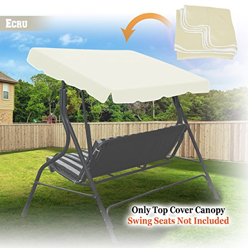 BenefitUSA Outdoor Patio Swing Canopy Replacement Porch Top Cover for Seat Furniture (77