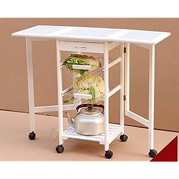Amazon Com Fch 4 Tier Folding Kitchen Trolley Cart