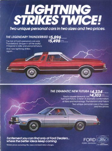 - Ford Thunderbird Lightning Strikes Twice Futura ad 1978