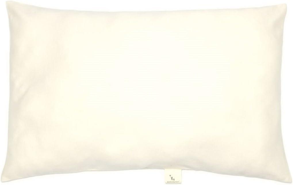 Organic Cotton Toddler Pillowcase 13x18 Nickel-free Button Closure Ivory Beige