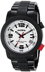 red line Men's RL-50043-BB-22S Octane Analog Display Japanese Quartz Black Watch