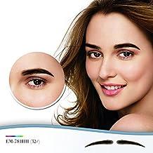 One Pair False Eyebrows 100% Handmade Human Hair Fake Eye Brows (EB-781-3#)