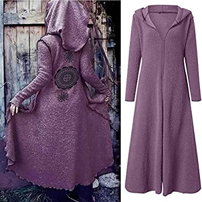Women Teddy Velvet Hoodie Jacket Coat SFE Spring Winter Bohemian Print Long Soft Warm Cardigan Coat Plus Size: Clothing