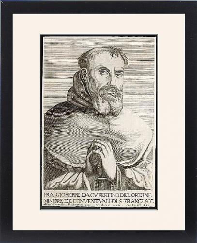 Framed Print Of St Joseph Of Cupertino by Prints Prints Prints