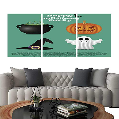UHOO Prints Wall Art PaintingsSet for Halloween Party Pumpkin Witch hat. Customizable Wall Stickers 20
