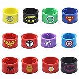 USA WOLF Superhero Slap Bracelet - 12 PCS