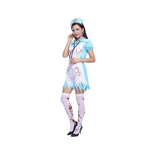 Yaxuan Halloween Cosplay Disfraces Enfermera Adulta Horror ...