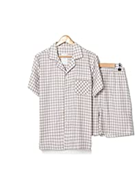 Marolaya Summer New Men's Pajamas Double Gauze Home Service Suit Short-Sleeved Shorts