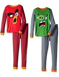 Angry Birds boys Big Boys 4pc Cotton Sleepwear Set
