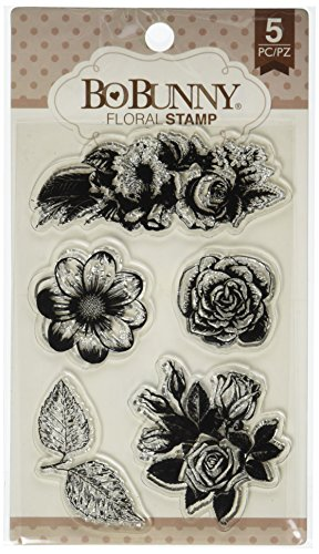 Bo Bunny Floral Stamps, 4 x 6, Multicolor ()