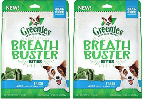 (2 Pack) Greenies Breath Buster Bites Fresh Flavor Natural Dog Treats for Bad Breath (Breath Bites)