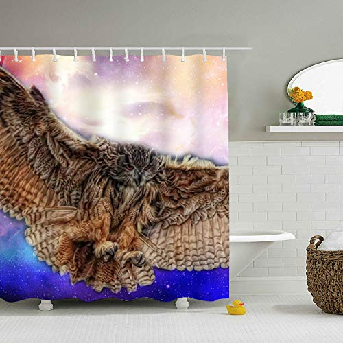 hodmadod Owl Tattoo Shower Curtain Creative Bathroom Shower