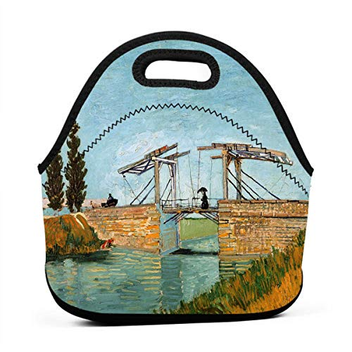 - Uuiuou Bridge at Arles Portable Outdoor Bento Large Hand Lunch Bag Baby Bag Satchel Tote Gift for Student Worker Travel Mummy