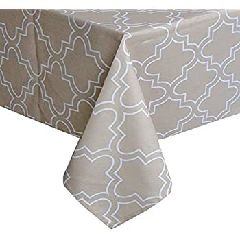 UFRIDAY Tablecloth 52 X 52 Inch For Square Tables, Khaki Table Clothes  Water
