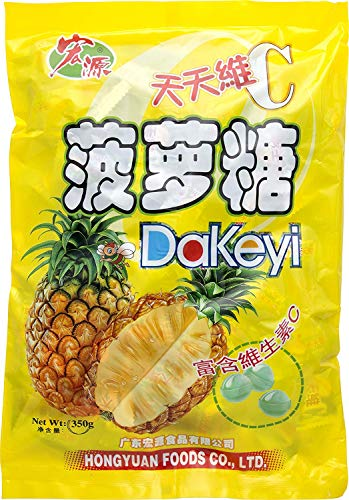 Dakeyi Pineapple Hard Candy Hong Yuan 350g Bag (New Version)