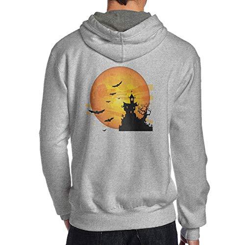 PEGGYNCO Men's Halloweentown Pullover Long Sleeve Hoodie Sweatshirt Active Casual Jackets Cozy Sport Outwear Ash M ()