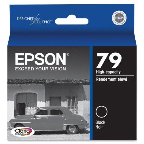 Epson 79 High-Capacity Black Ink Cartridge - Black - Inkjet - 1 (79 High Capacity Black Ink)