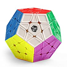 Coogam Qiyi X-Man Galaxy Megaminx Cube Sculpted Stickerless Pentagonal Dodecahedron Speed Cube Puzzle Toy (Sculpted Version)