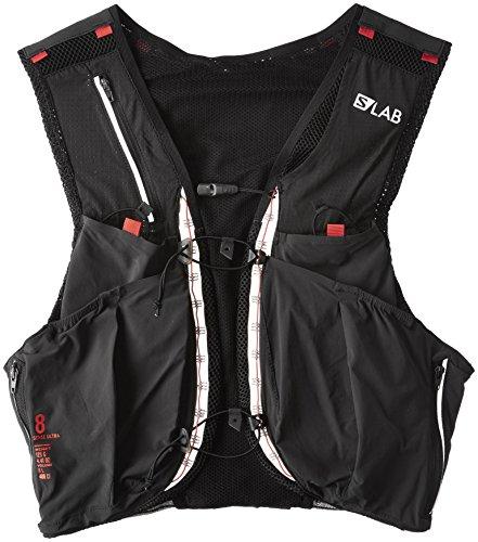 Salomon Unisex S-Lab Sense Ultra 8 Set Backpack, Black, Racing Red, XS by Salomon (Image #1)