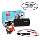 Weego JS12 Jump Starter AUTO/MARINE BUNDLE includes Jump Starter JS12 1400 Peak and 400 Cranking Amps Plus Weego Jump and Charge 2-in-1 Auto/Marine Tether/Harness