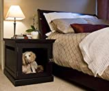 DenHaus Medium Espresso TownHaus Hideaway Dog House with Nightstand End Table