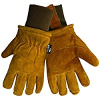 Global Glove 524 Premium Grade Russet Cow Split Freezer Glove with Knit Wrist Cuff, Work, Extra Large (Case of 144)