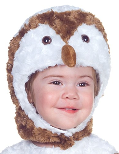 Owlet Baby Costume (Underwraps Costumes Baby's Barn Owl Belly-Babies, White/Brown/Tan, Medium)