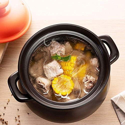 UWY Marmite à ragoût, Pots en céramique pour la Cuisson, Casserole, Céramique, Résistance aux températures élevées, Noir, -4,5L