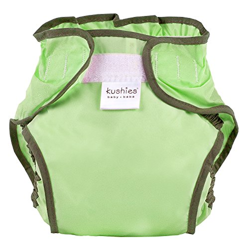 Kushies Waterproof Diaper Wrap, Lime Green Solid, Toddler
