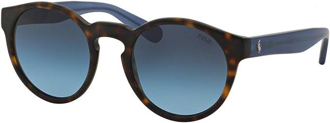 Polo Ralph Lauren 4101 Gafas, MATTE DARK HAVANA/BLUEGRADIENT, 52 ...