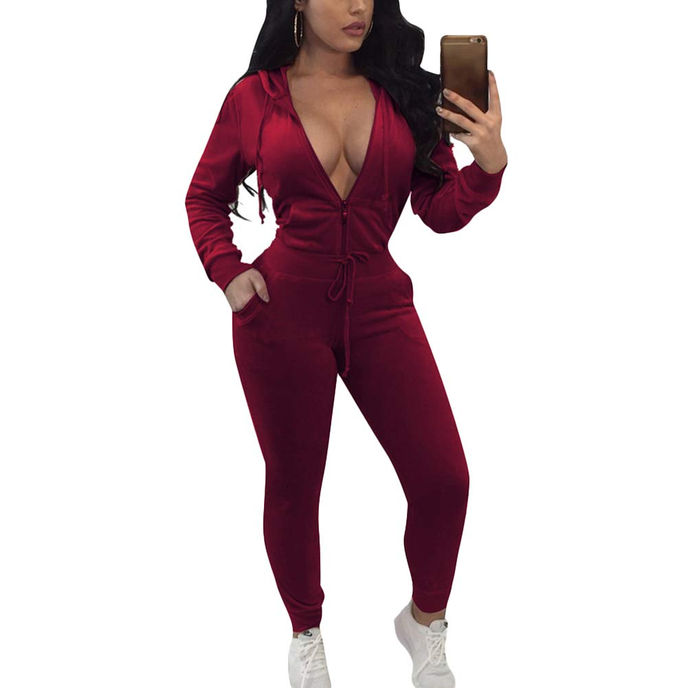 Women Velour Velvet Tracksuit Set Long Sleeve Zip Up Hoodie and Pants Tracksuit Jogging Gym Outfit Sweatsuits