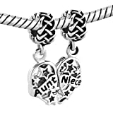 Q&Locket 2pcs Heart Love Mother Daughter Aunt Niece