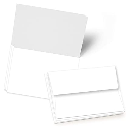 Amazon Com Greeting Cards Set 5x7 Blank White Cardstock And
