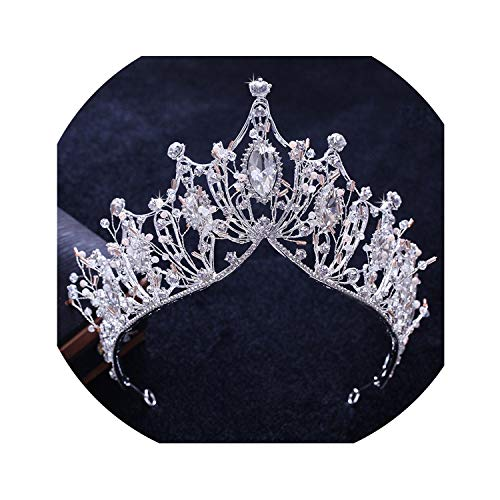 Wedding Jewelry Sets Brides Crown Necklace Tiara Bride Accessories Bridal Zirconia Earrings Crystal