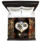 CafePress - Steampunk, Beautiful Heart - King Duvet Cover, Printed Comforter Cover, Unique Bedding, Microfiber