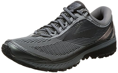 Brooks Men's Ghost 10 Running Shoe Primer Grey/Metallic Charcoal/Ebony Size 9.5 M US