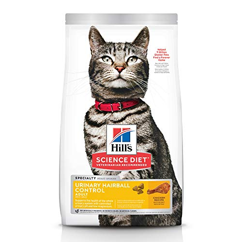 Hill's Science Diet Dry Cat Food, Adult, Urinary & Hairball Control, Chicken Recipe, 7 lb Bag, Packaging may vary