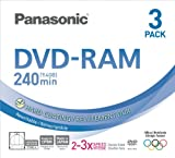 Panasonic 3x speed, 9.4GB, double sided 3 pack DVD-RAM Disc