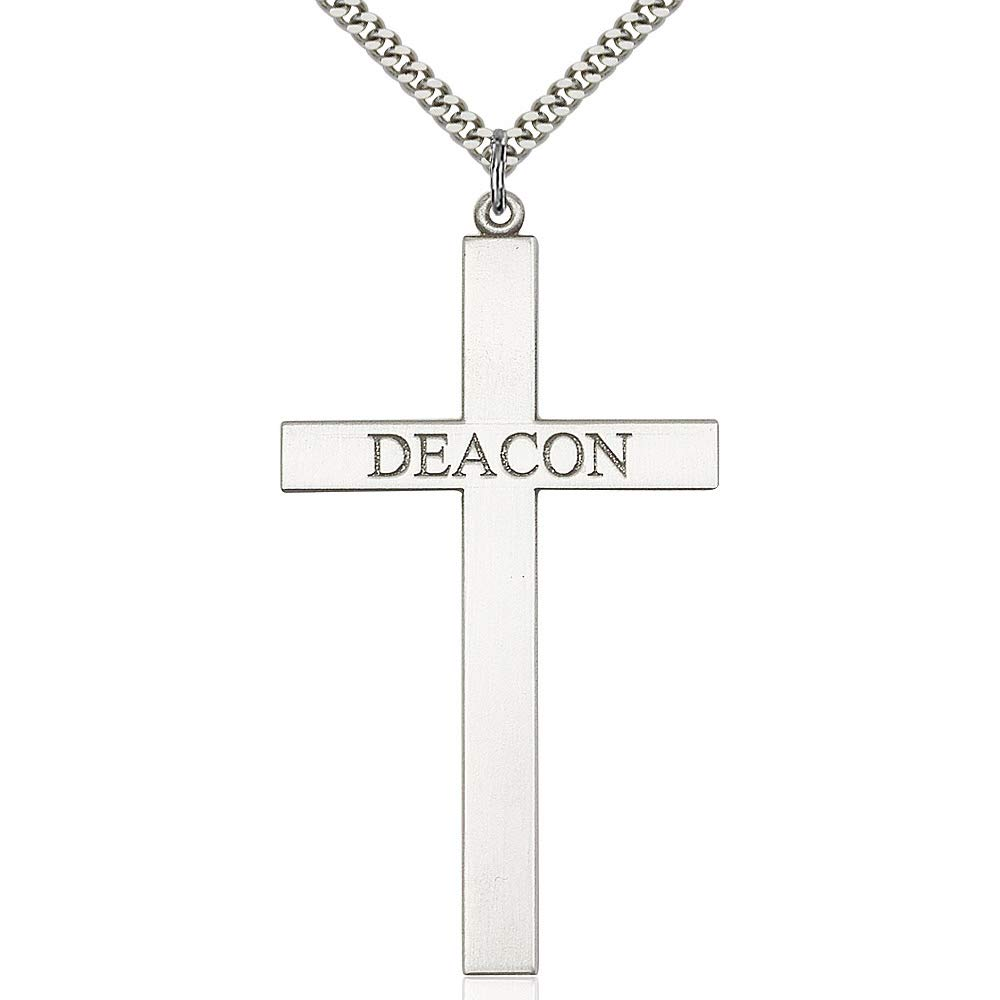 Sterling Silver Deacon Cross Pendant