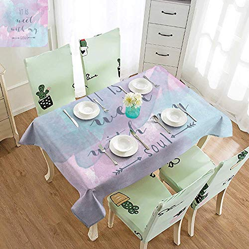 (GUUVOR Italy Elastic Edges fit The Rectangular Tablecloth Panorama of Old Italian Fishing Village Beach in Old Province Coastal Charm Image Suitable for Most Home Decor W60 x L84 Inch Turquoise)