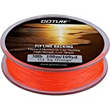 Goture Dacron Fly Fishing Backing Line for Trout Bass Pike in The Saltwater Freshwater 8 Strand Braided 109yd 20lb 30lb Orange White Yellow
