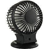 USB Fan Portable Fan Personal Fan Table Fan Mini Rechargeable Fan … (black)